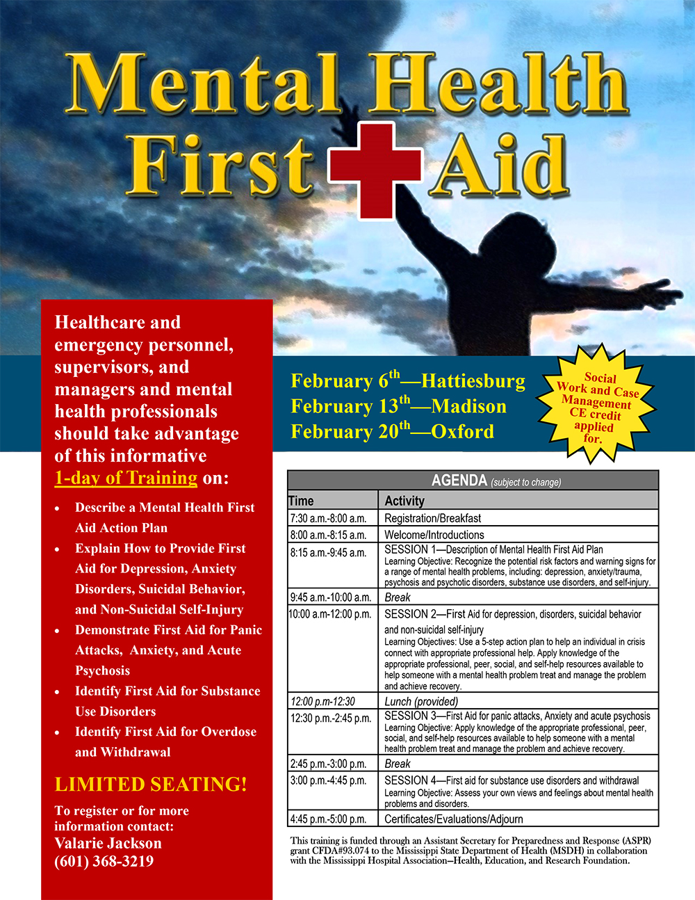 Display Event Mental Health First Aid Training 3 Locations